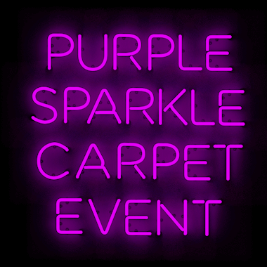 Purple Sparkle Carpet Event